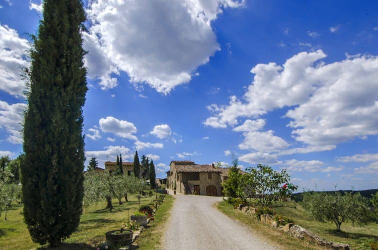 La Rocca di Cispiano: Cypress lined driveway