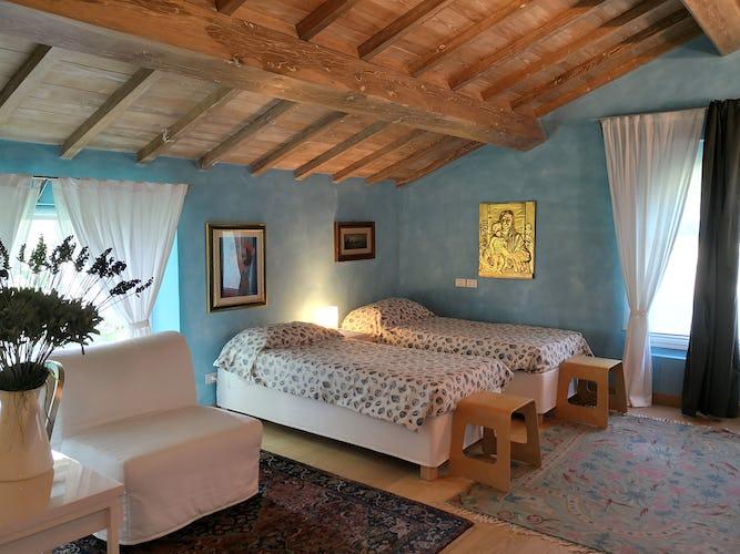 La Villa con gli Archi ha una camera con due lettini singoli