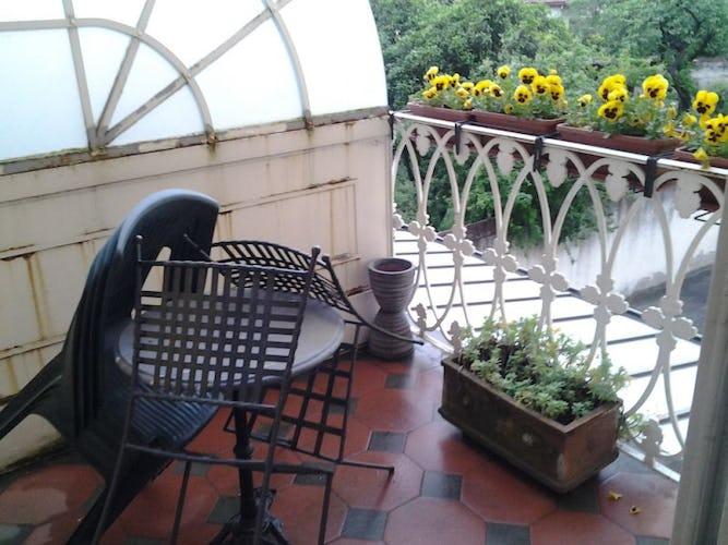 La terrazza per fare colazione all'aperto