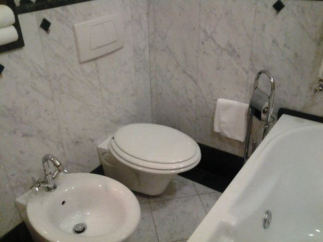Il bagno,moderno ed allo stesso tempo classico