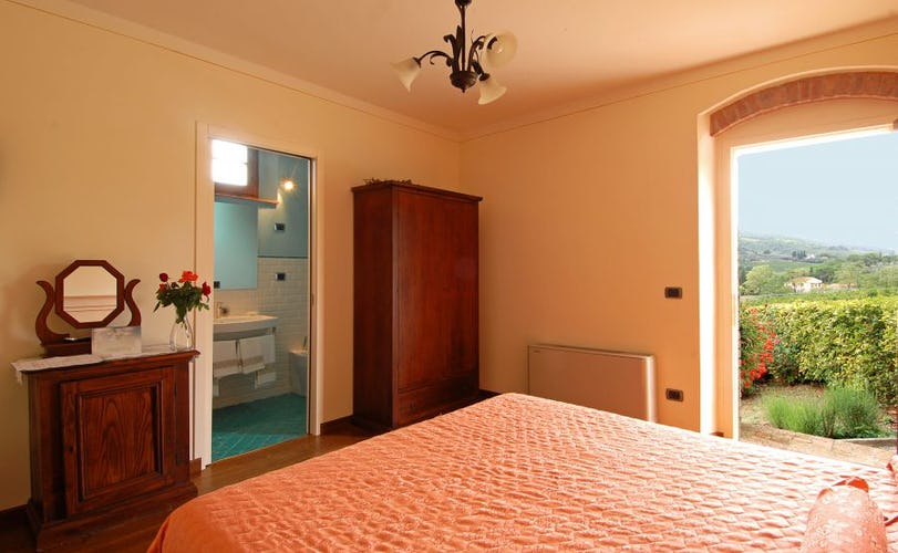 Every room at Palagetto promises a wonderful view of Tuscany