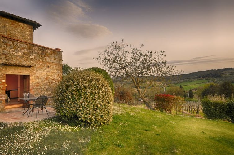 Syrah Suite has a private garden with special views over Tuscany