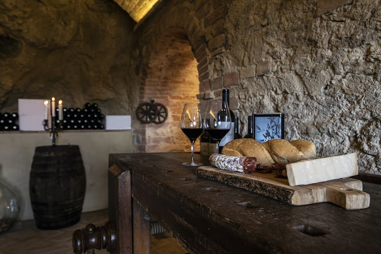 Winetasting in farmhouse cellar
