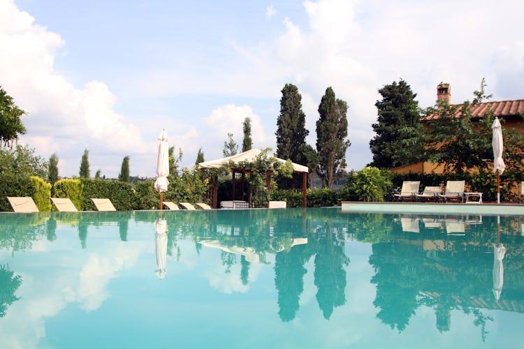 Podere Villa Bassa - panorama dalla piscina