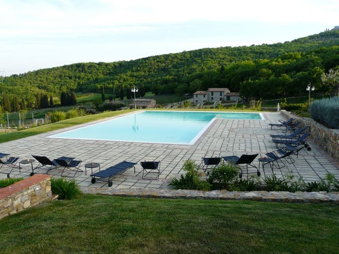 Panoramic pool Poggio Cennina