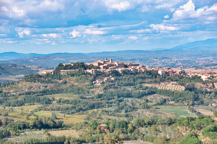 In the heart of Montepulciano in souther Tuscany with Politian Apart.