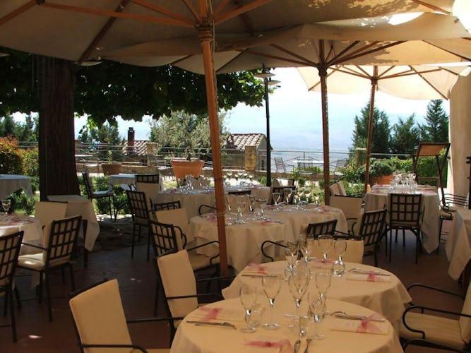 Local culinary dishes at il Chiostro di Pienza