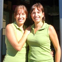 Laura & Stefania, the owners of Residence Santa Maria