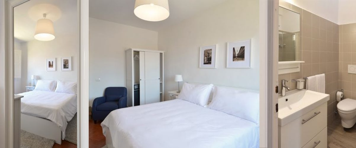 La residenza offre 5 camere matrimoniali ed una suite panoramica