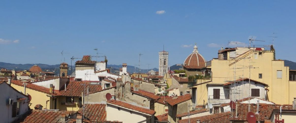 Overlooking the rooftops with panoramic views of historic Florence