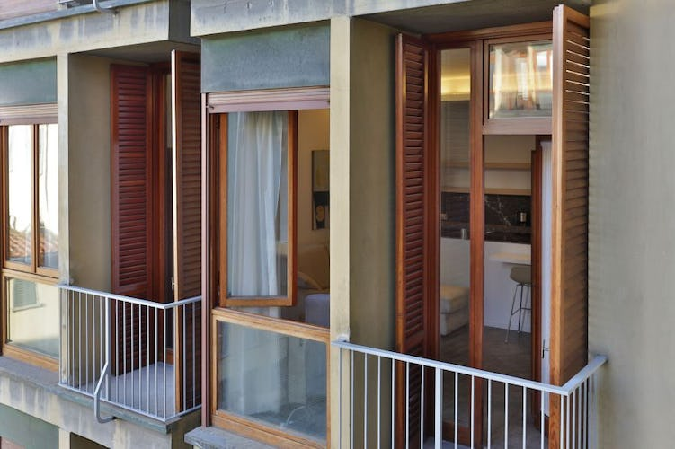 A terrace on the city at Santa Croce Vacation Apartment in Florence