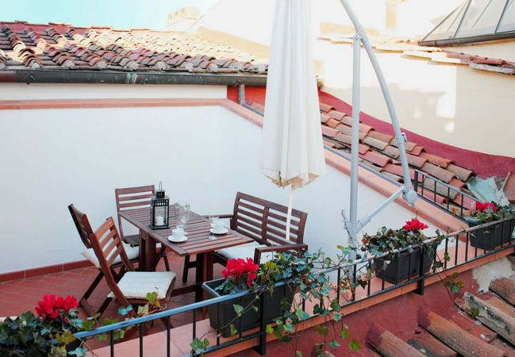 The exclusive terrace of Attico for enjoying al fresco meals