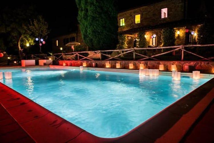 Giardino e piscina privati immersi nei vigneti della Tenuta San Vito