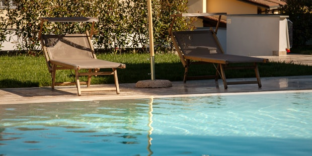 Relaxing poolside at The Florence Hills Luxury Resort