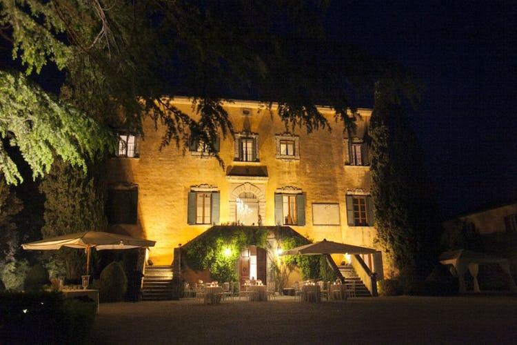 The beautiful villa at night