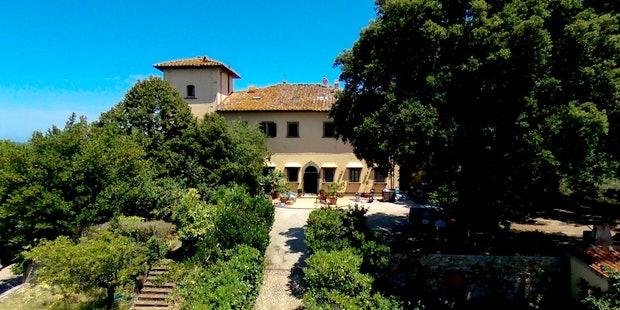 Deluxe accommodations at Villa Fillinelle, a restored home.