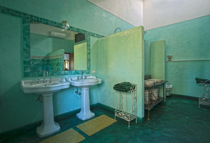 A special delight are the super sized bathrooms in each apartment