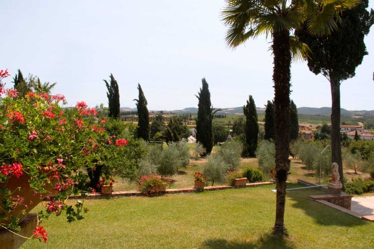 Il parco ed il giardino privato della Villa
