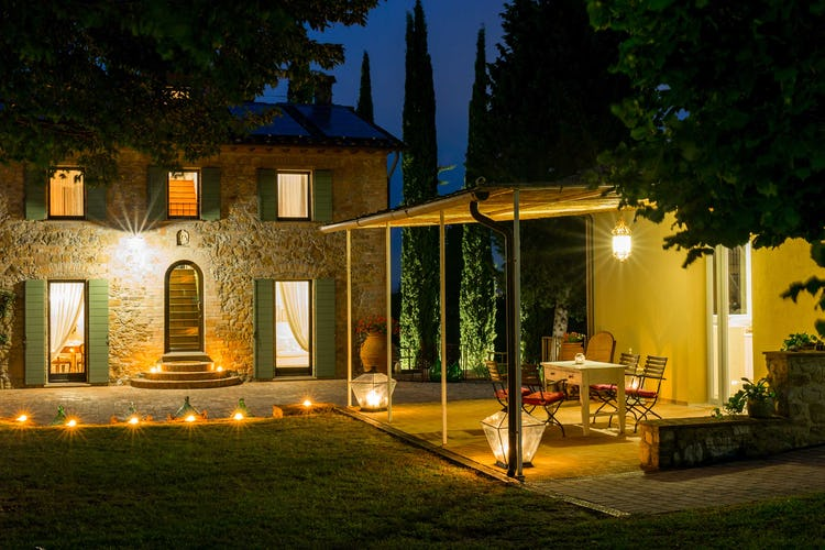 Villa La Fonte Vacation Rental - well lit for evening meals