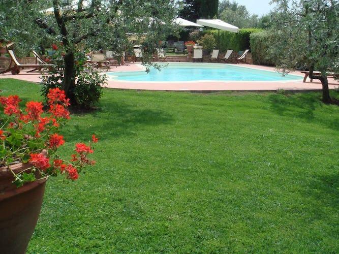 The Garden & the Pool at Villa le Torri Tuscany