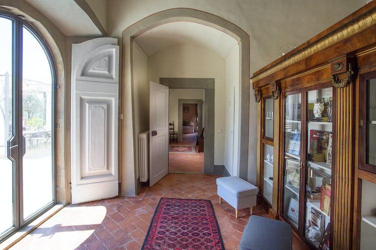 Villa Roveto: il corridoio che collega le camere da letto al soggiorno
