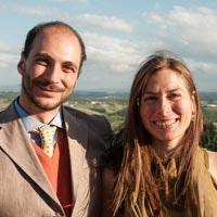 Tommaso e Chiara, the Owners of Villa Vianci