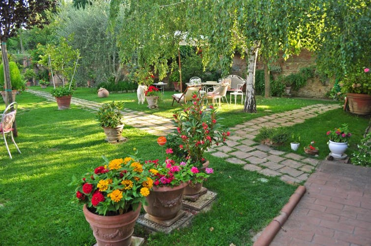 The garden is a perfect place where to enjoy some relaxing moments